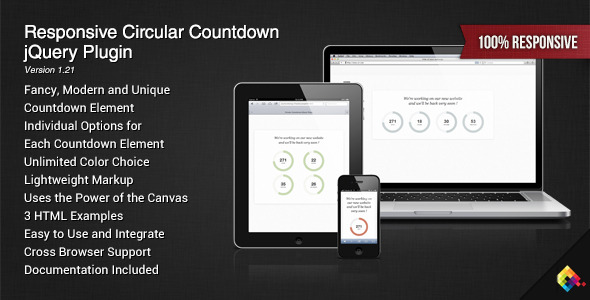 Circular Countdown jQuery Plugin - CodeCanyon Item for Sale