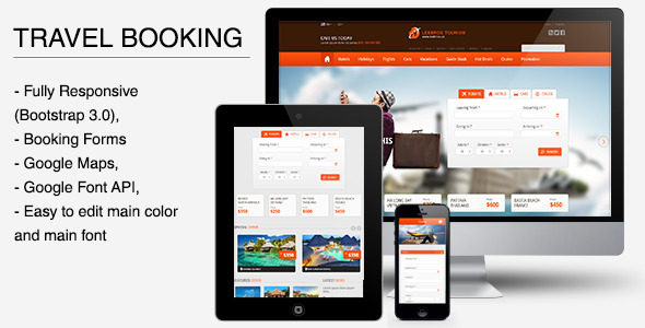 ThemeForest The Travel Booking Responsive HTML Template 6096056