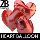 Realistic Heart Ballons - GraphicRiver Item for Sale