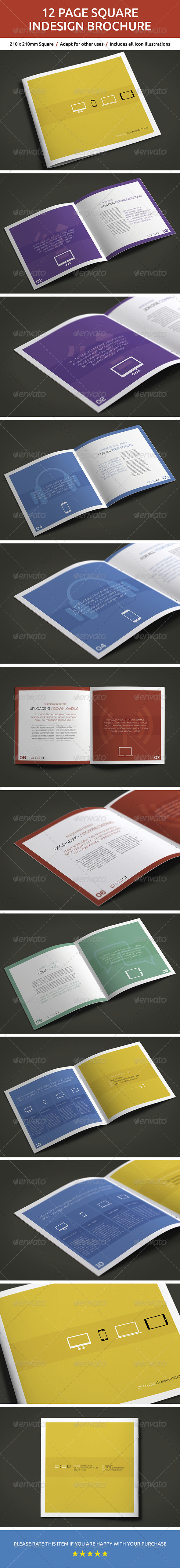 GraphicRiver 12 Page Square InDesign Brochure 6097029