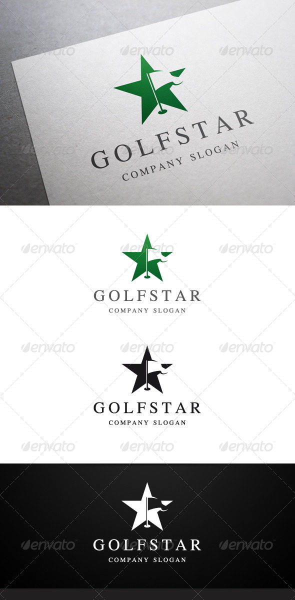 GraphicRiver Golf Star Logo 6097686