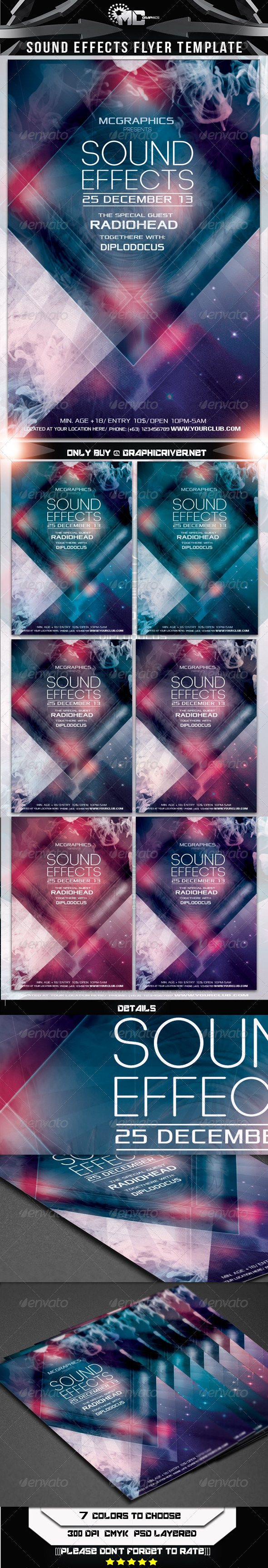 GraphicRiver Sound Effects Flyer Template 6098116