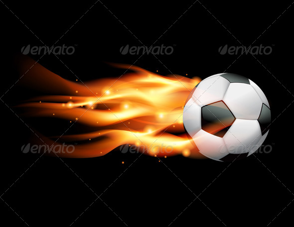 GraphicRiver Vector Flaming Soccer Ball 6098126