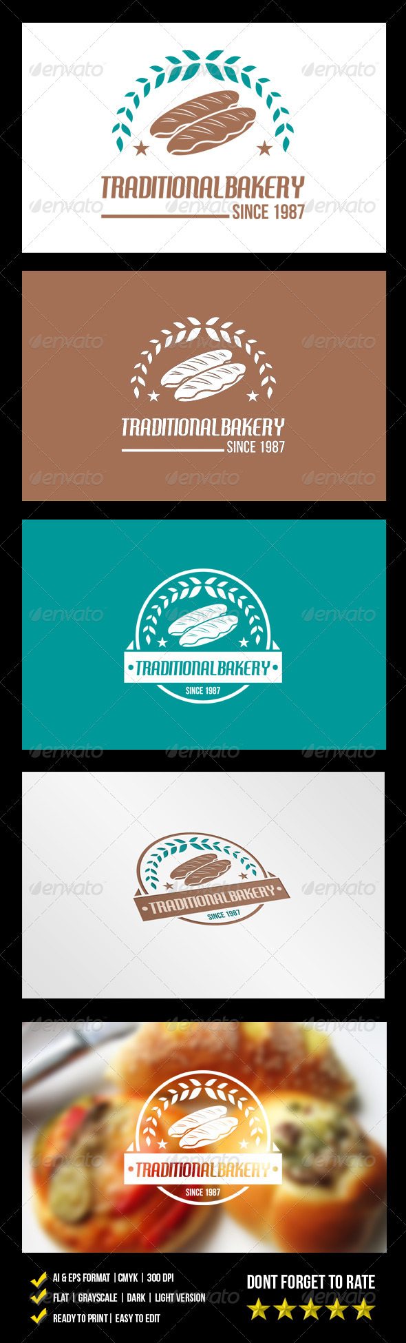 Traditional Bakery Logo - Food Logo Templates