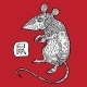 Rat. Chinese Zodiac. Animal Astrological Sign. - GraphicRiver Item for Sale