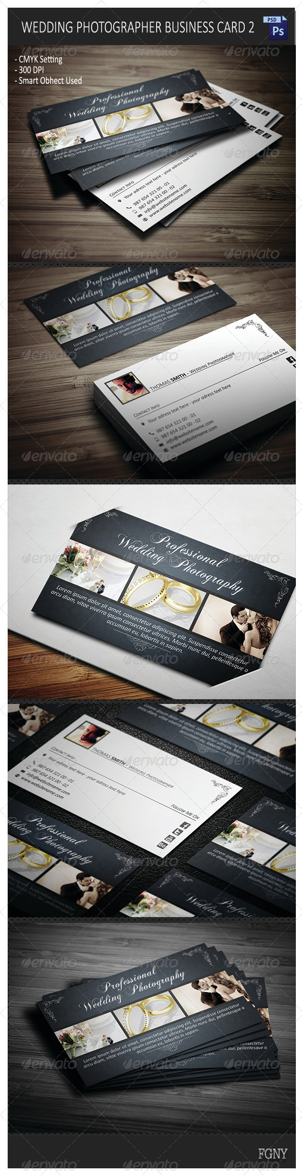 GraphicRiver Wedding Photographer Business Card 2 6079286
