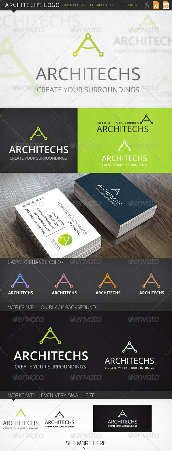 GraphicRiver Architechs Logo 6102215