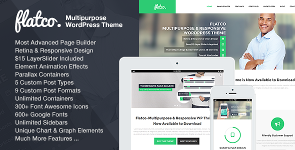 Flatco - Responsive Multi-Purpose One Page Theme - Business Corporate
