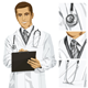 Vector Doctor Man with Clipboard - GraphicRiver Item for Sale