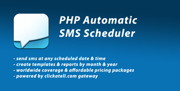 PHP Automatic SMS Scheduler - CodeCanyon Item for Sale