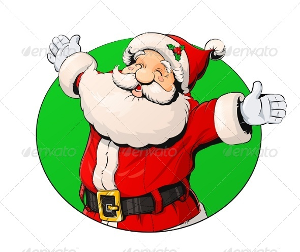 GraphicRiver Smiling Santa Claus 6104701