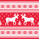 Christmas and Winter Knitted Pattern with Reindeer - GraphicRiver Item for Sale