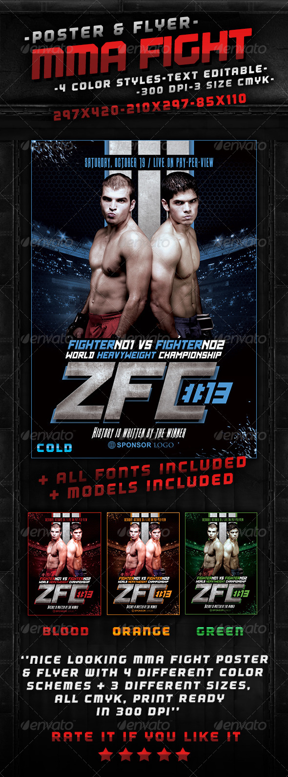GraphicRiver MMA Fight Poster 5945682