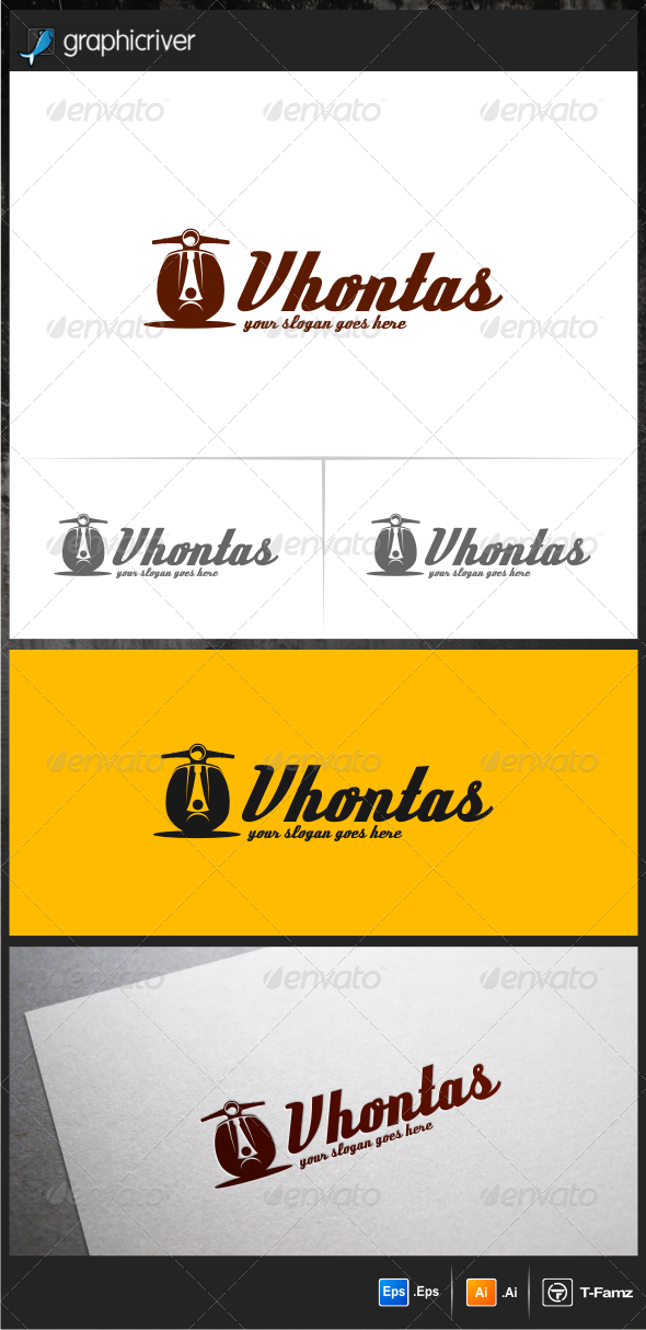 GraphicRiver Scooter Logo Templates 6107103