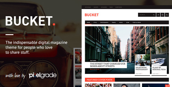 ThemeForest BUCKET A Digital Magazine Style WordPress Theme 6107209