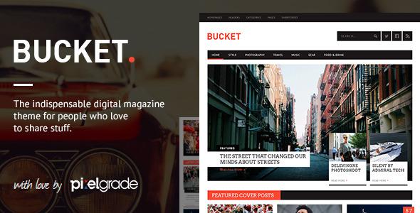 ThemeForest BUCKET A Digital Magazine Style WordPress Theme 6107209