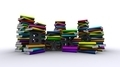 Colorful Piles Of Books With Black Text - PhotoDune Item for Sale