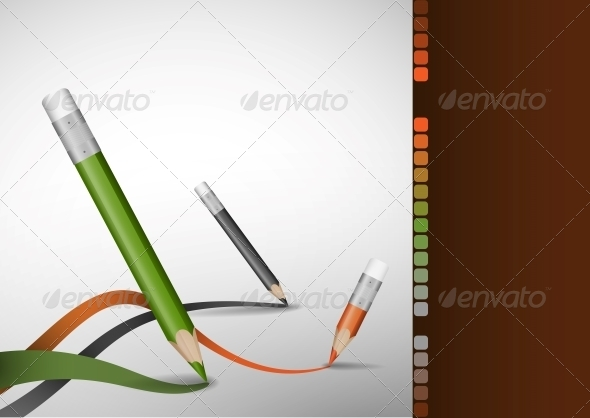 GraphicRiver Colour Pencils Drawing Lines 6108207