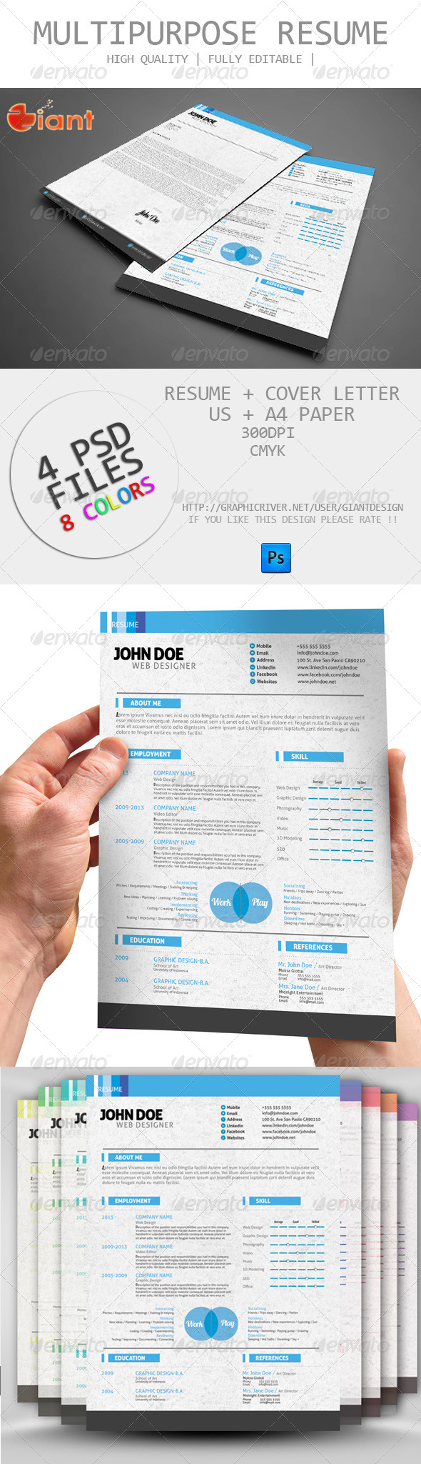 GraphicRiver Multipurpose Resume 6067926
