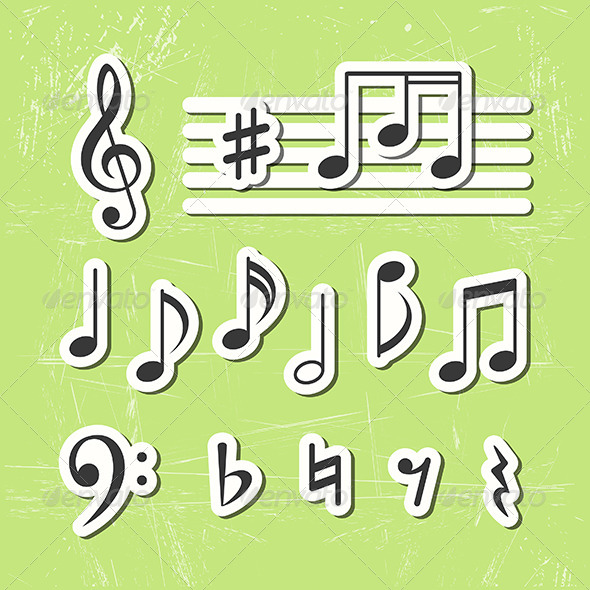 GraphicRiver Music Notes 6110485