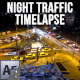 City Traffic Night Time lapse - VideoHive Item for Sale