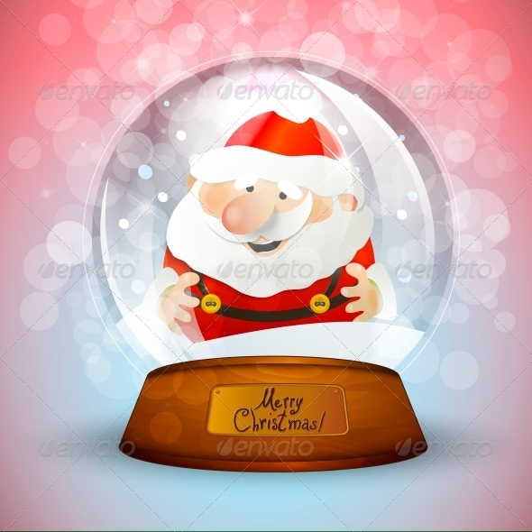 GraphicRiver Christmas Snow Globe with Santa Claus 6111877