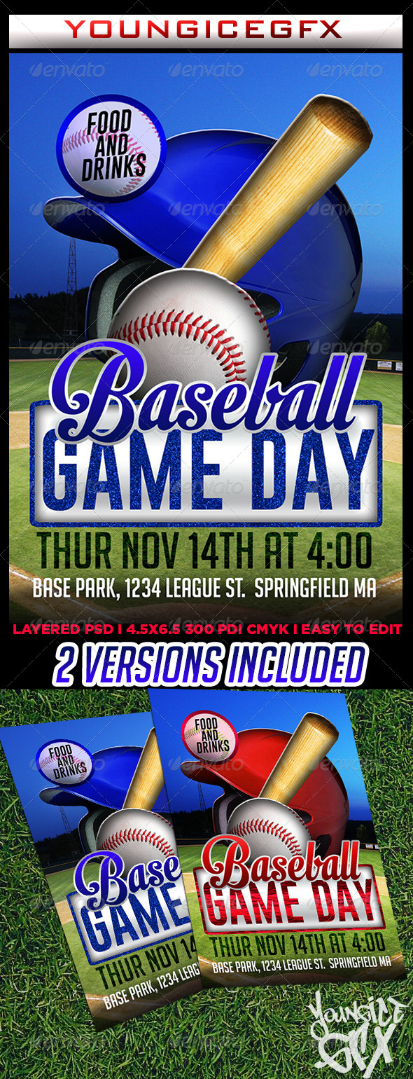 GraphicRiver Baseball Game Day Flyer 6114244