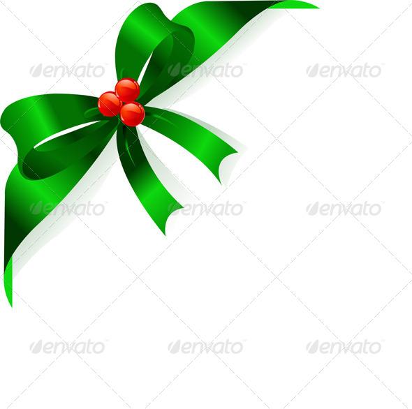 GraphicRiver Christmas Green Ribbon 6114715