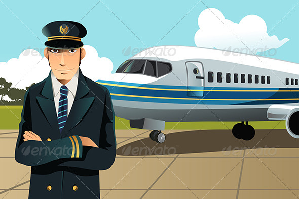 GraphicRiver Airplane Pilot 6115305