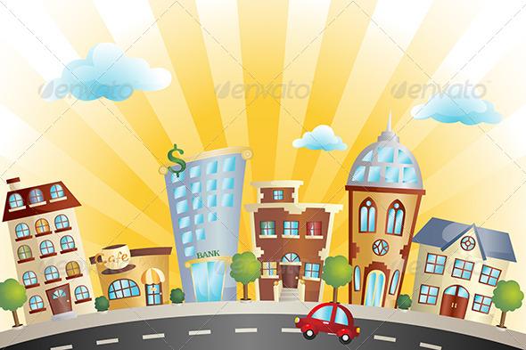 GraphicRiver Cartoon Cityscape 6115467