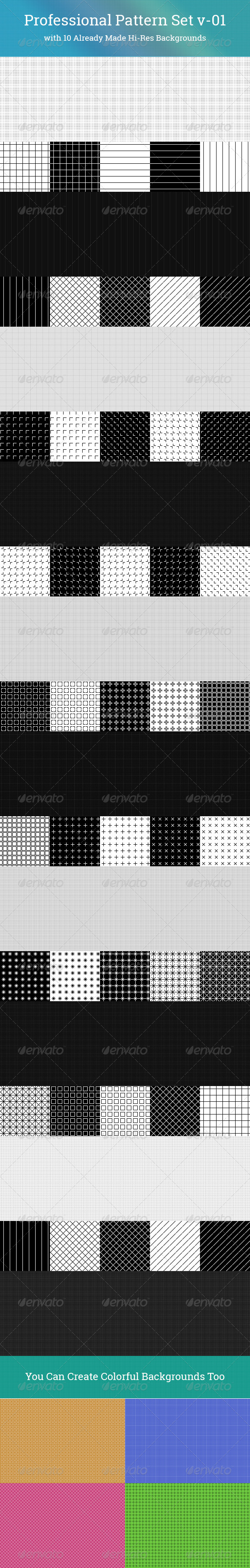 GraphicRiver Professional Pattern Set v-01 6115976