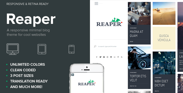 ThemeForest Reaper Minimal Creative Blog and Portfolio Theme 6086337