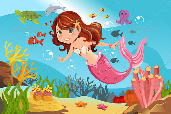 GraphicRiver Mermaid in Ocean 6116115