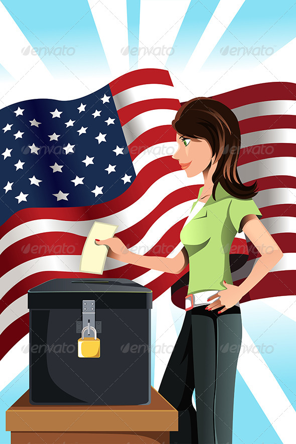 GraphicRiver Voting Woman 6116142