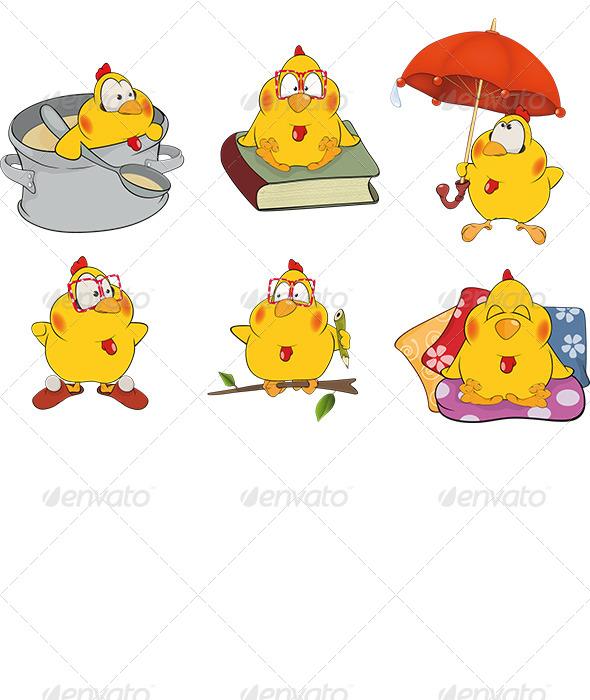 GraphicRiver Chicken Clip Art Cartoon 6116145