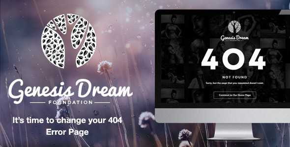 ThemeForest Genesis Dream Responsive 404 Error HTML5 6085384