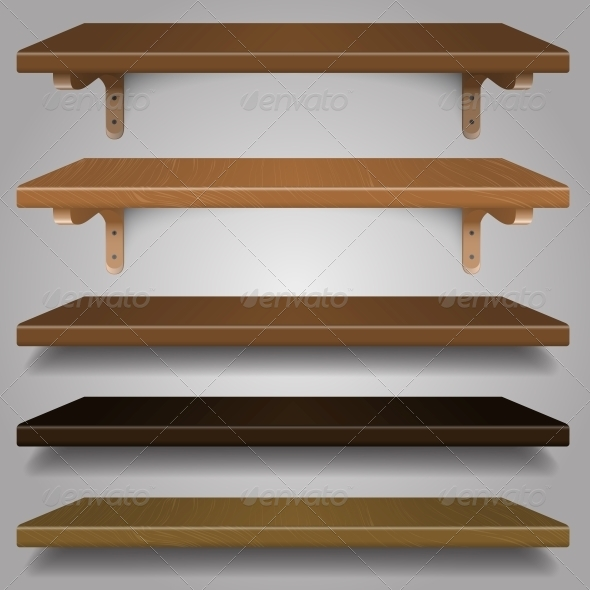 GraphicRiver Vector Wood Shelves 6116384