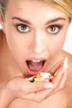 close up of a beautiful girl having pills - PhotoDune Item for Sale