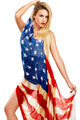 american girl cover herself with a big american flag - PhotoDune Item for Sale