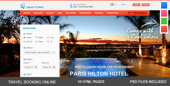 aTourist - Hotel, Travel Booking Site Template - Travel Retail