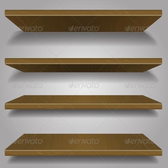 GraphicRiver Wood Bookshelf Design 6117046