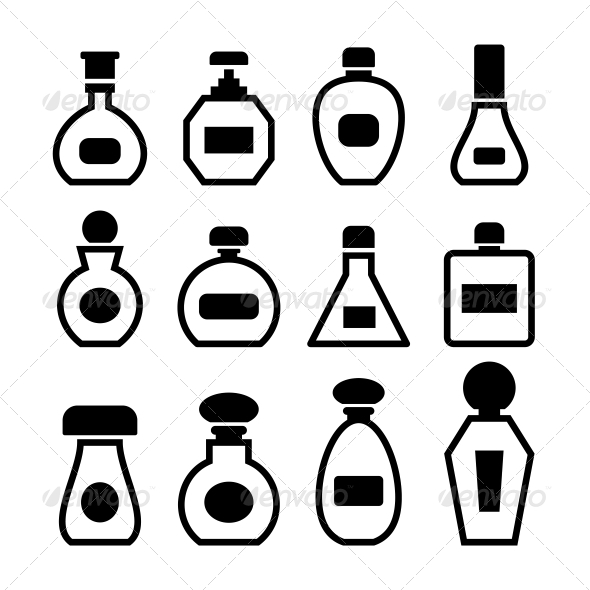 GraphicRiver Perfume Bottles Vector 6117545