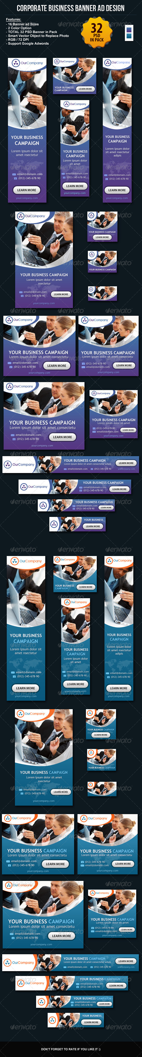 GraphicRiver Corporate Business Banner ad Design Set 6117582