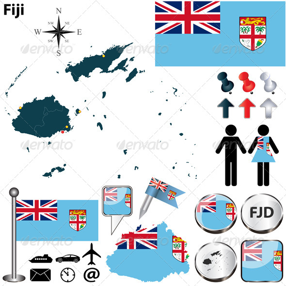GraphicRiver Map of Fiji 6117807