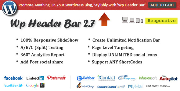 Wp Header Bar - WordPress Notification Bar - CodeCanyon Item for Sale