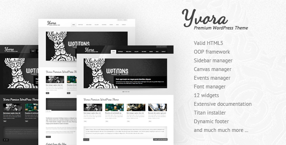 Yvora - Premium WordPress Theme - ThemeForest Item for Sale