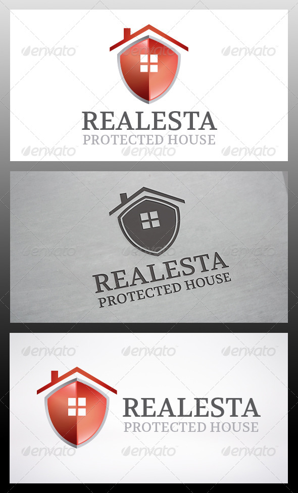 GraphicRiver Shield House Logo Template 6119126