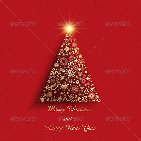 GraphicRiver Christmas Tree Background 6119769