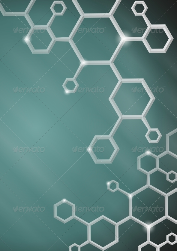 GraphicRiver Molecule Abstract Background 6120054