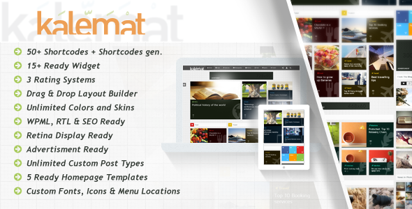 ThemeForest Kalemat Retina Magazine WordPress Theme 6069532